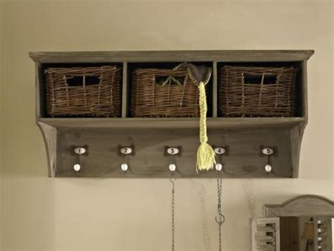 Coat Rack With Storage Baskets by Wooden Coat Rack Storage Unit With Baskets And Hooks