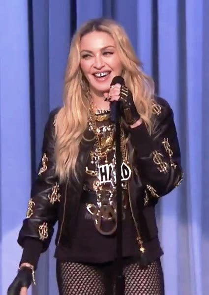 Madonna I Underpants Tonight On The Late Show With David Letterman Mound by Madonna Kills As Standup On Fallon No Really She