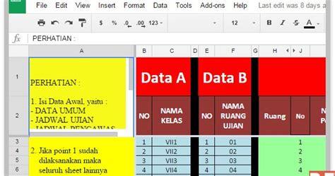 aplikasi untuk membuat jadwal kegiatan aplikasi excel untuk membuat perlengkapan ujian di sekolah