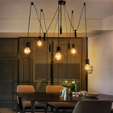 industrial style lighting europe vintage loft industrial style iron cages pendant