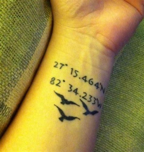 coordinates tattoo ideas coordinates ideas