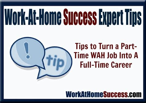 work at home experts reveal how to turn your part time wah into a time career