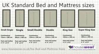 uk bed and mattress sizes large diagram