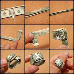 Dollar Bill Origami Ring - 25 best one dollar ideas on how to make