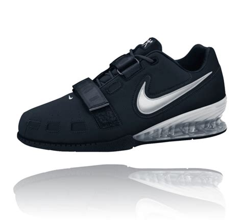 nike s romaleos 2 weightlifting shoes black silver