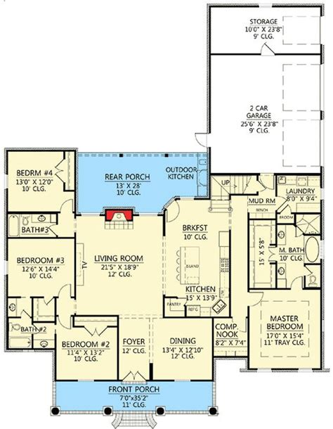 corner suite floor plan plan 56378sm 3 bed acadian with bonus garage computer nook country and bonus rooms