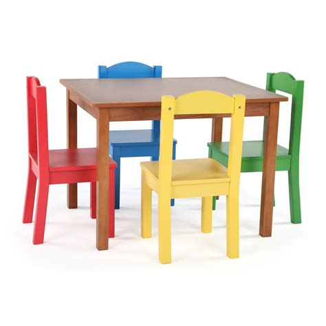 tot tutors table and chairs tot tutors highlight 5 piece natural primary kids table