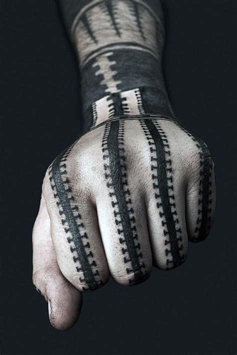 black pattern finger tattoo 75 blackwork tattoo designs for men bold masculine ink