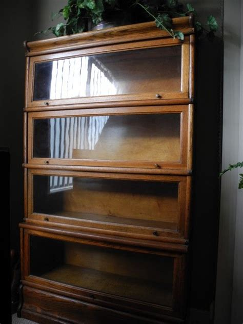 antique barrister bookcase for sale 2 oak antique lawyer glass front bookcase 500 each the