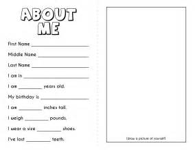 about me template for gift tags free all about me printable book