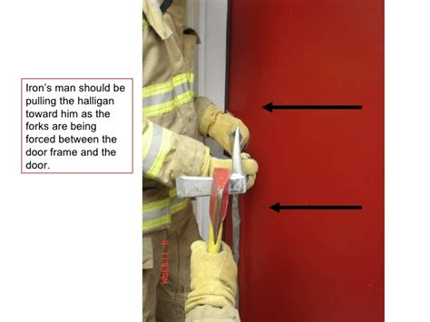 forcible entry inward swinging door forcible entry using irons