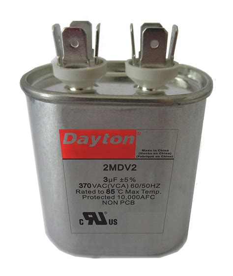 capacitor rating voltage dayton oval motor run capacitor 5 microfarad rating 440vac voltage 2mdy5 motors