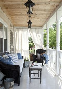 how to keep from blowing in on porch porch inspiration on blue ceilings porches