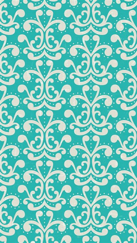 pin by amberblue media design on iphone 5 wallpapers iphone 5 wallpaper aqua damask pattern iphone 5