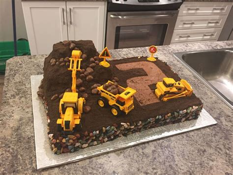 Cupcake Digger digger cake dirt digger cake chocolate buttercream and