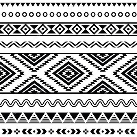 tribal pattern black tribal seamless pattern aztec black and white background