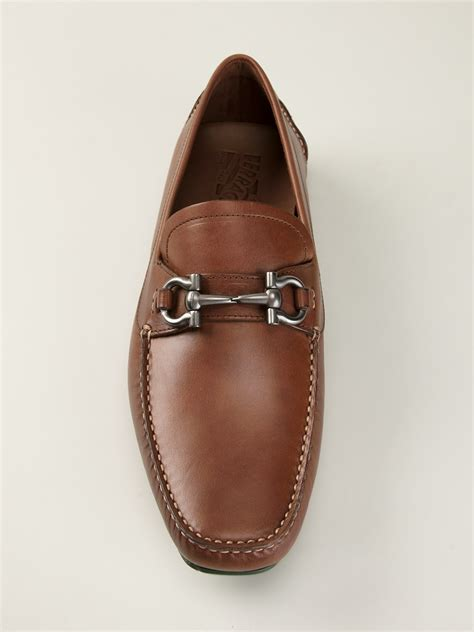 ferragamo loafers ferragamo loafers in brown for lyst