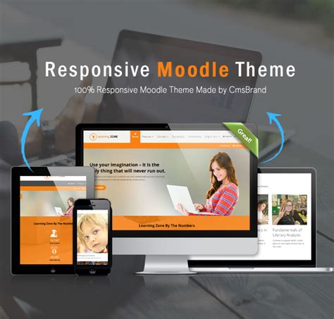 moodle themes for education learningzone responsive moodle theme by cmsbrand