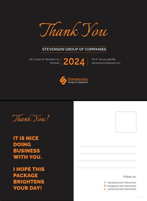Free Thank You Postcard Template