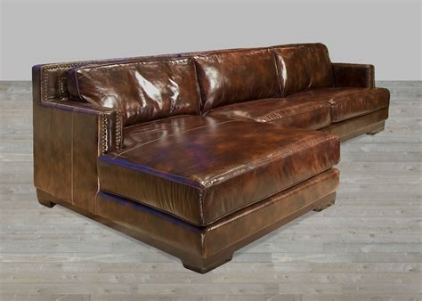 Dark Brown Leather Sectional Sofa With Chaise Lounge Leather Chaise Sofa