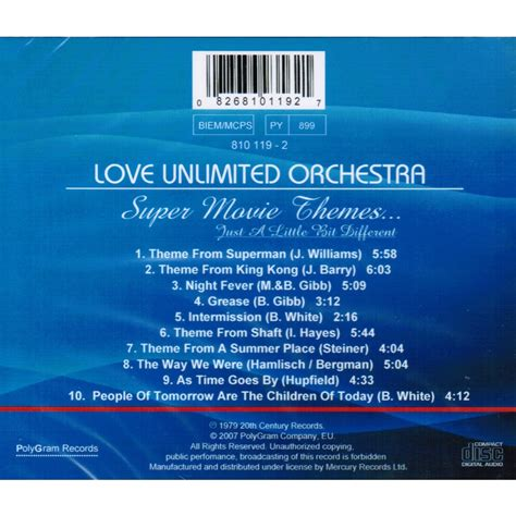 super movie themes love unlimited orchestra super movie themes 1979 by love unlimited orchestra cd