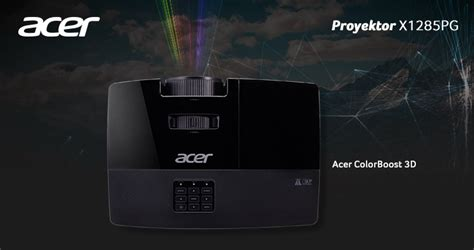 Acer X1285pg Projector acer x1285pg proyektor acer dengan ketajaman dan kejernihan optimal
