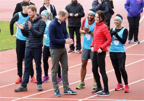 kate middleton and prince william at marathon pictures kate middleton prince william prince harry run race