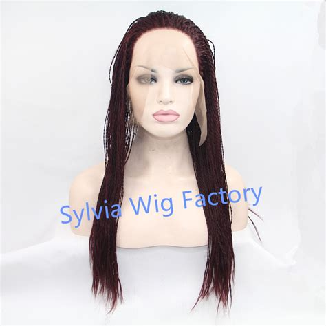 afrian amerian wigs with micro braids hot sales african american premium synthetic twist braid