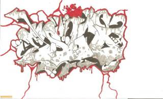Graffiti walls wildstyle graffiti gallery photo sketches outline