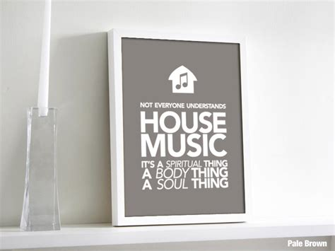 house music is a spiritual thing house is a spiritual thing house poster screen printed by ryne arts