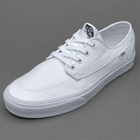 vans brigata leather white mens shoes vans au461