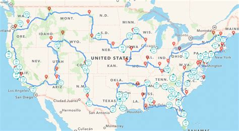 road trip map of united states of america united states of america usa einfon