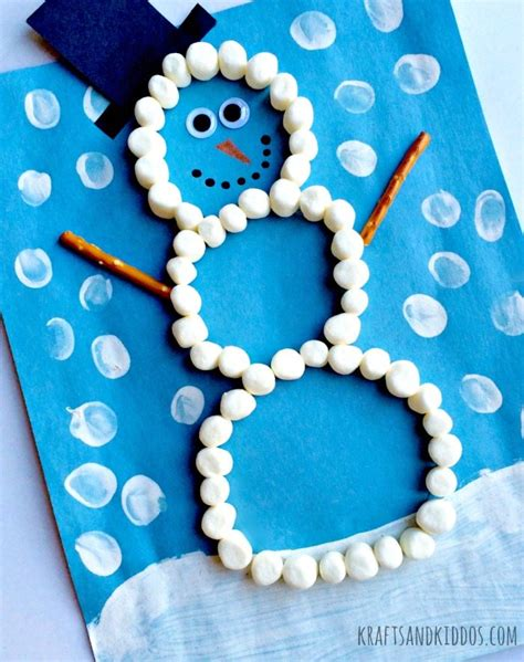 marshmallow crafts for snowman crafts with marshmallows