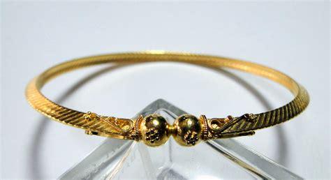 22 carat solid gold handmade bangle chudee bracelet 916 ebay
