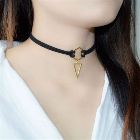 Choker Velvet Necklace Black House Kalung Handmade buy wholesale leather choker from china leather