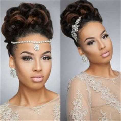 hairstyles for black women to pin the back of the hair 43 black wedding hairstyles for black women