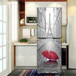 yazi fridge door cover wall sticker pvc mural kitchen