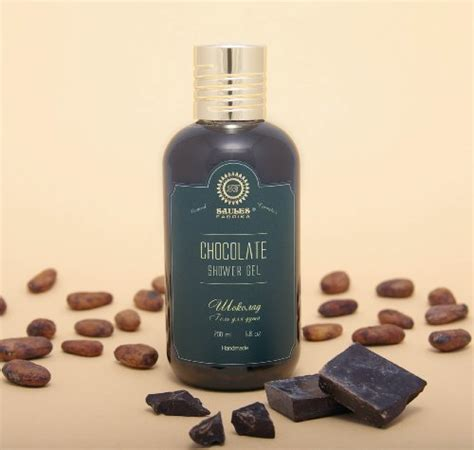 Handmade Shower Gel - chocolate shower gel wash organic and