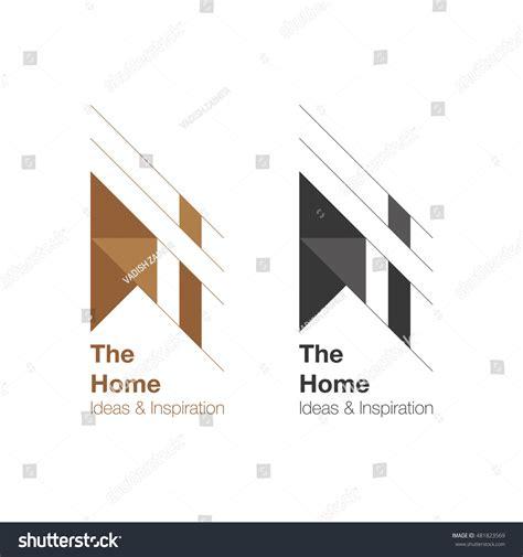home interiors logo home interior logo design vector logo stock vector
