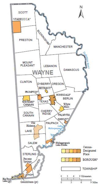 wayne county pa tax map wayne county pa map my