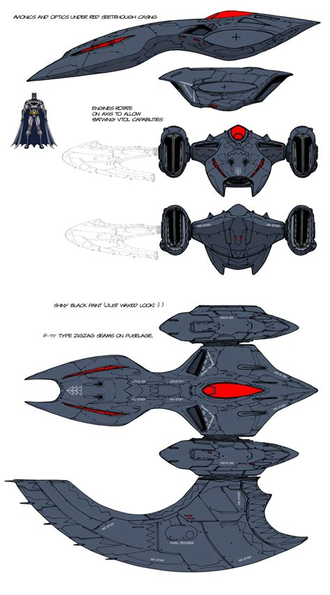 design vs concept dcu mmo batwing design by chuckdee on deviantart