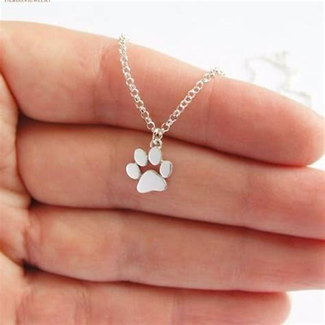 Cat Paw Necklace paw print necklace bengal cats
