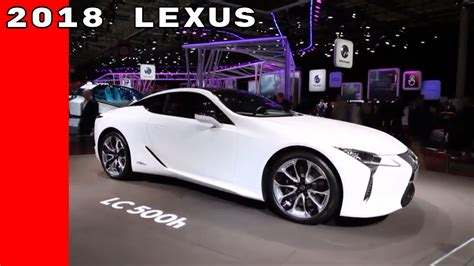 White 2018 Lexus Lc 500h With Interior