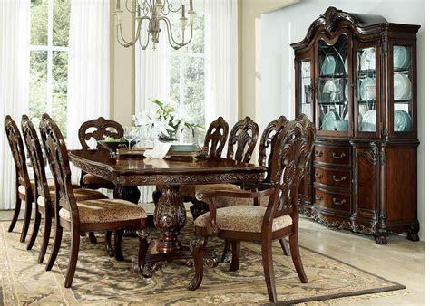 oval dining room set deryn park cherry extendable oval dining room set from