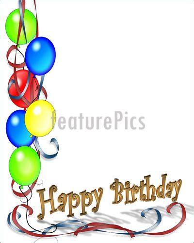 birthday card border templates birthday borders clip free