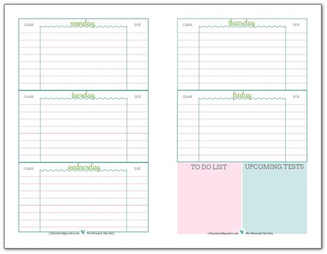 printable organization quiz for students 78 best ideas about student planner printable on pinterest