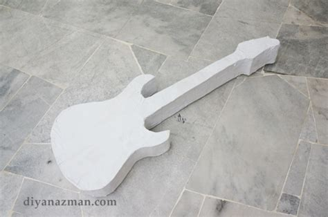 Make A Paper Guitar - how to make an electric guitar pinata for rafa s 1st