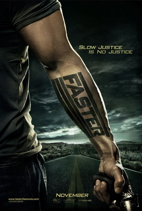 dwayne johnson faster ghost tattoo faster movie poster teaser poster dwayne johnson collider