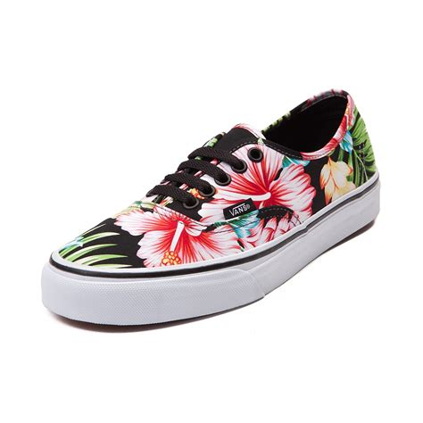 flower shoes vans authentic hawaiian floral skate shoe