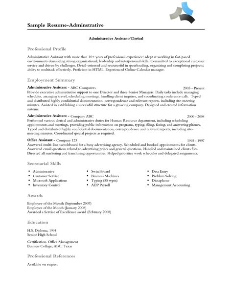 profile for resume the resume professional profile exles recentresumes
